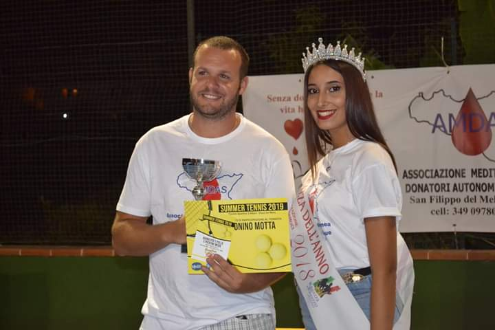 Tonino Motta ( 3° classificato) e Chiara Siciliani