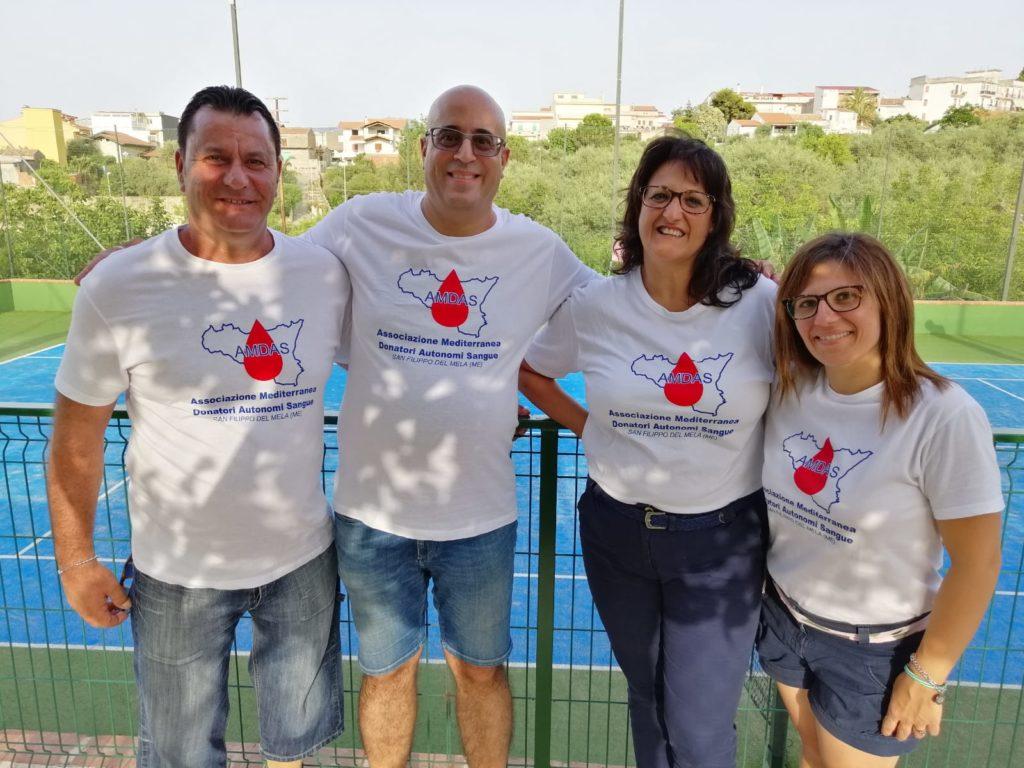 I Responsabili dell'AMDAS con Bruno Calderone (Gestore Centro Tre Alberi)